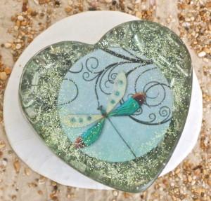 Divine Kauai Beautiful Orgone Shell Enhanced Orgonite Power Heart. Enhanced Orgone from Kauai