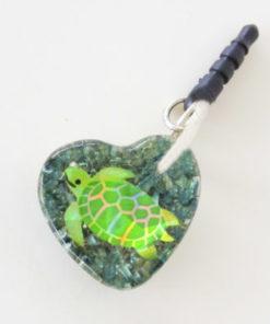 Turtle heart orgonite cell phone Audio Jack EMF/EMR Protection Shield. Orgone for children. Orgonite for kids