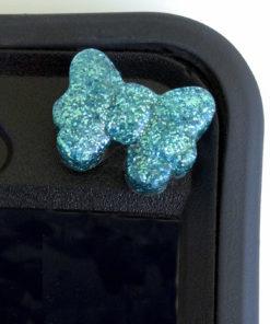 Blue Bow Orgonite Cell Phone Shields for kids. orgone powerful super orgonite for children