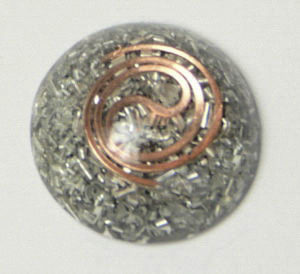 For 5G Rated #1 by Review Tap. Powerful Enhanced Orgonite Large Cell Phone/Tablet EMF/EMR Protection Shield. Orgone Tablet EMR Shield with Copper Spiral & Copper Tube Torus Coil and Amber. Orgone